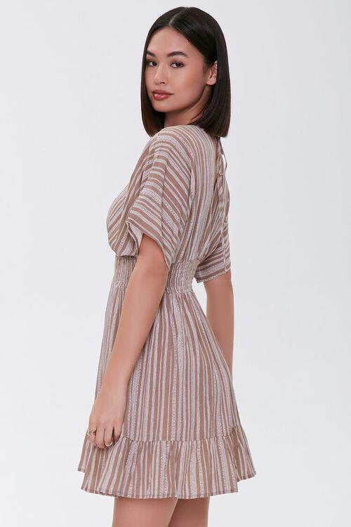 Plunging Striped Mini Dress, image 2