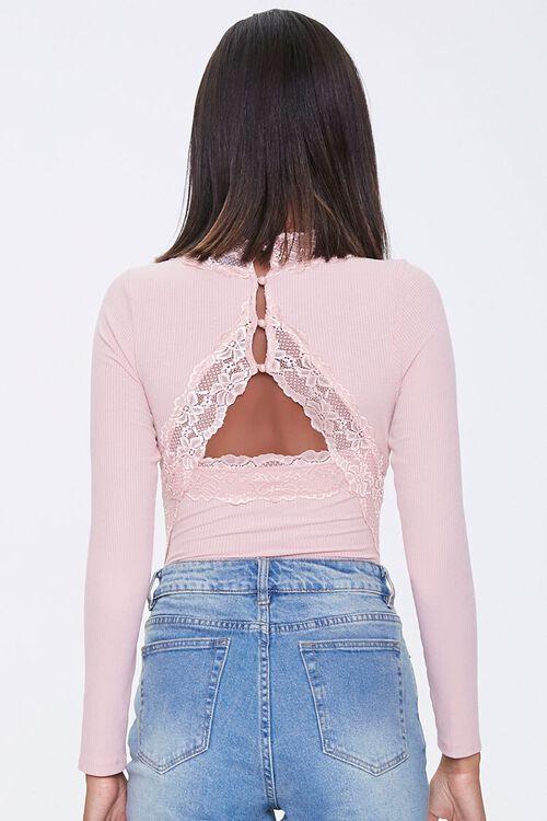 Lace-Trim Ribbed Bodysuit, image 3