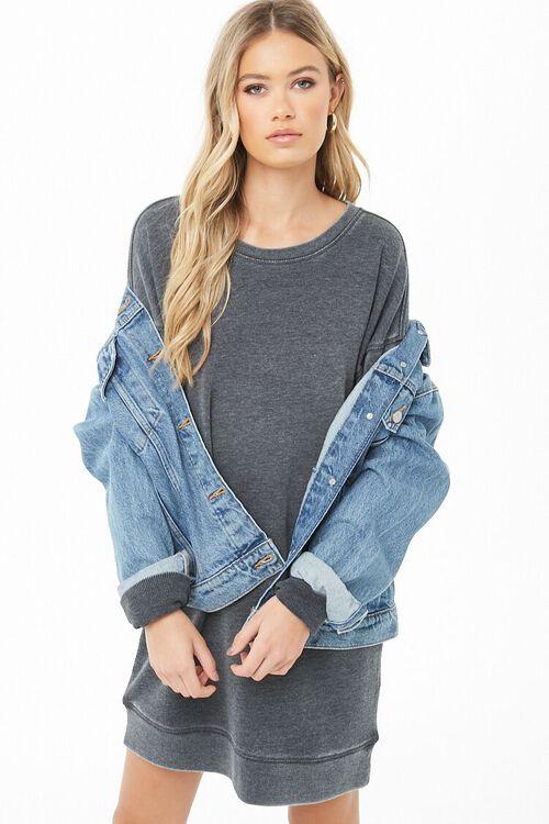 Marled Sweatshirt Dress, image 1