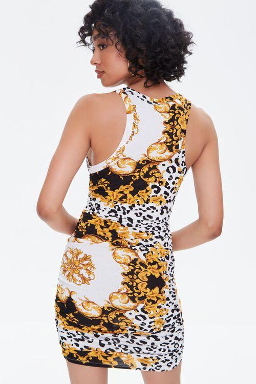 BLACK/MULTI Leopard & Baroque Print Mini Dress, image 3