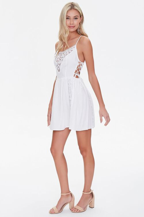 Lace-Panel Fit & Flare Dress, image 4