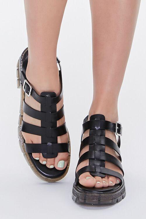 Caged Flatform Block Heels, image 4