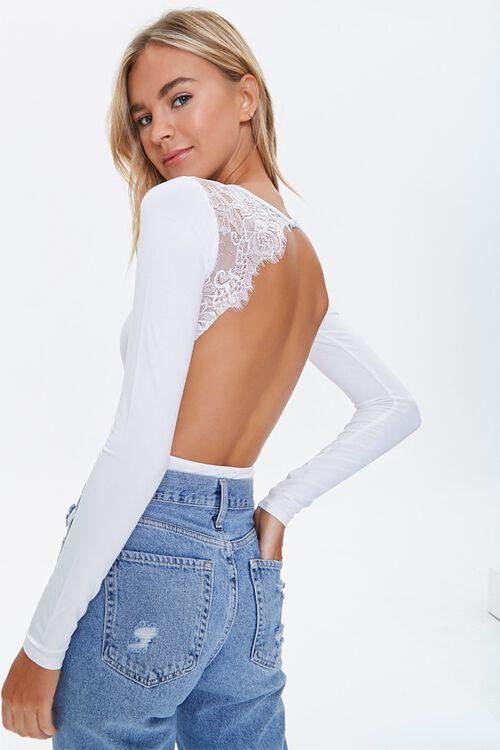 Lace Trim Bodysuit, image 1