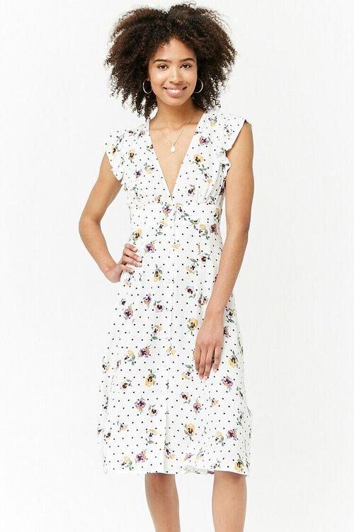 Floral Plunging Dress, image 4