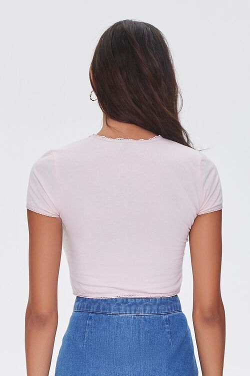 Cropped Heathered Knit Tee, image 3