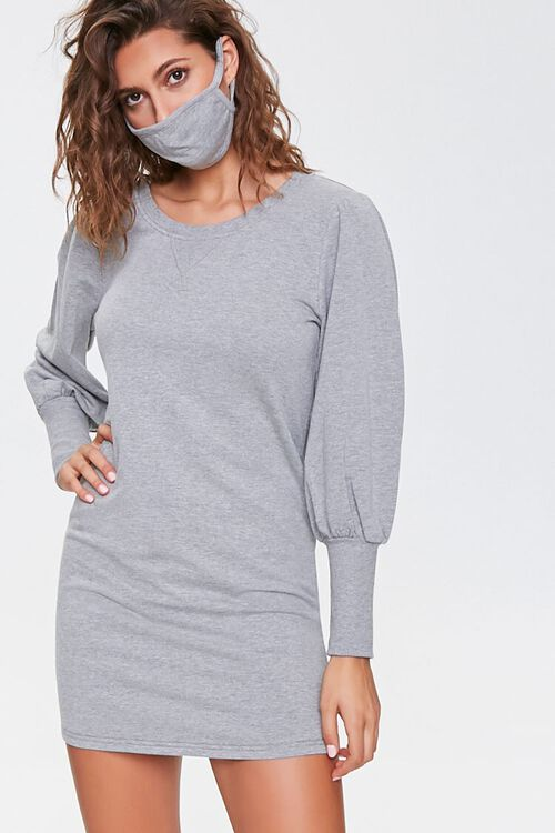 French Terry Dress & Face Mask Set, image 1