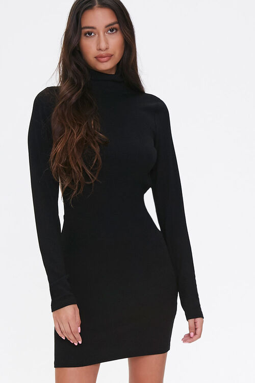Open-Back Turtleneck Dress, image 1
