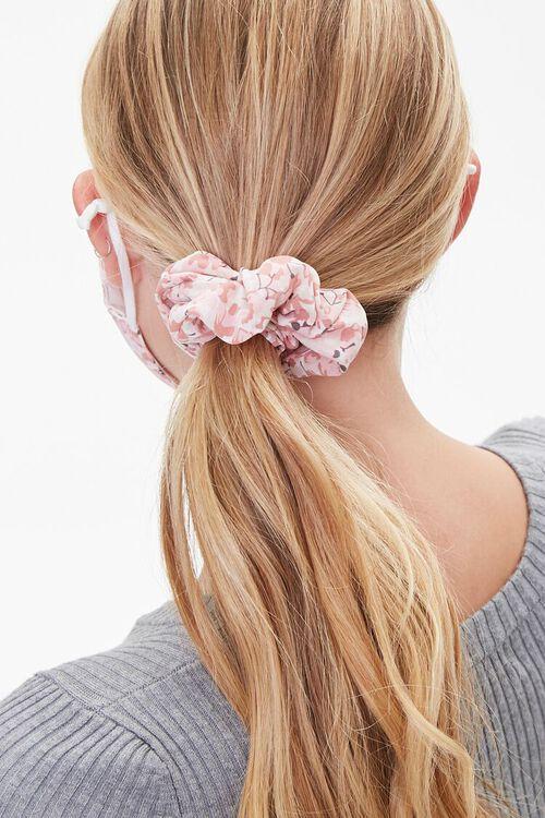 PINK/MULTI Floral Face Mask & Scrunchie Set, image 3