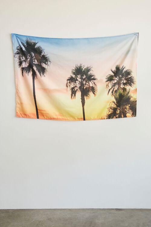 YELLOW/MULTI Palm Tree Sunset Wall Tapestry, image 2