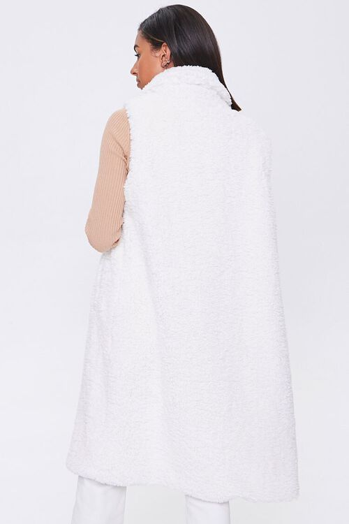 Faux Shearling Duster Vest, image 3