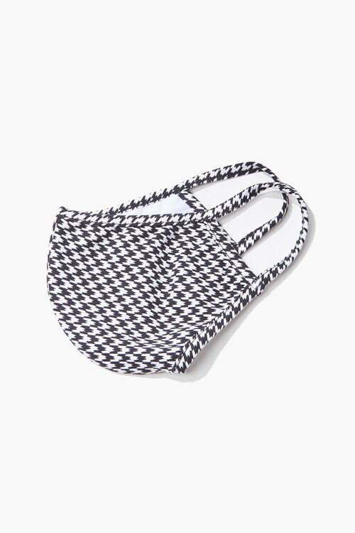 Houndstooth Print Face Mask, image 3