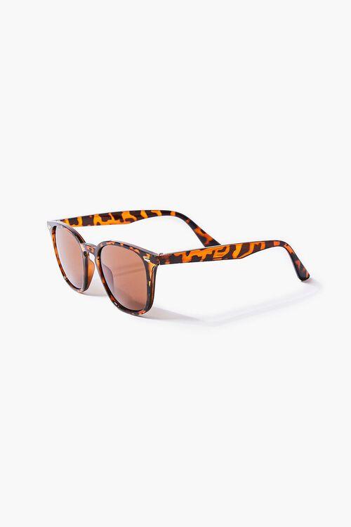 BROWN/MULTI Men Round Square Sunglasses, image 2