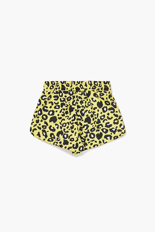 YELLOW/MULTI Girls Leopard Print Shorts (Kids), image 2