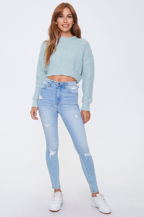 Ribbed Drop-Shoulder Sweater, image 4