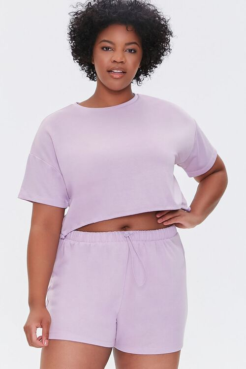 Plus Size French Terry Shorts, image 1