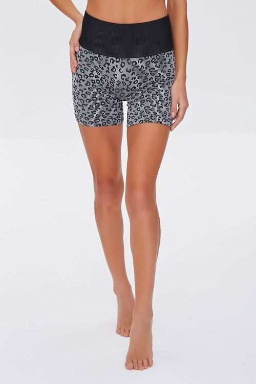 Leopard Print Seamless Lounge Shorts, image 2