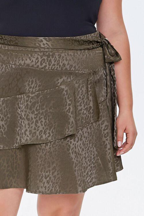 Plus Size Leopard Print Skirt, image 5