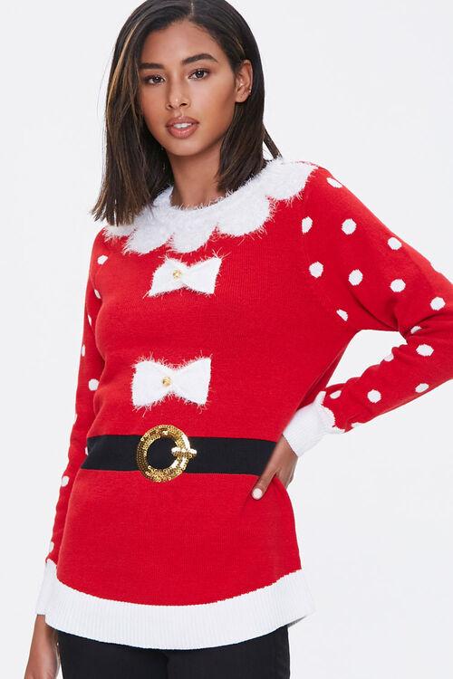 Santa Sweater Dress, image 1