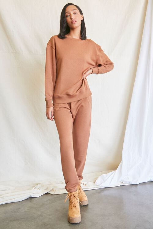 MOCHA French Terry Crew Pullover, image 4