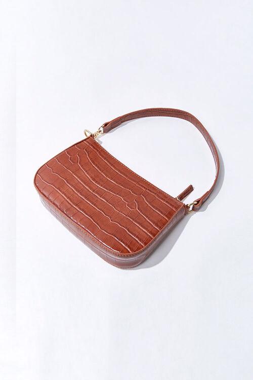 Faux Croc Leather Handbag, image 3