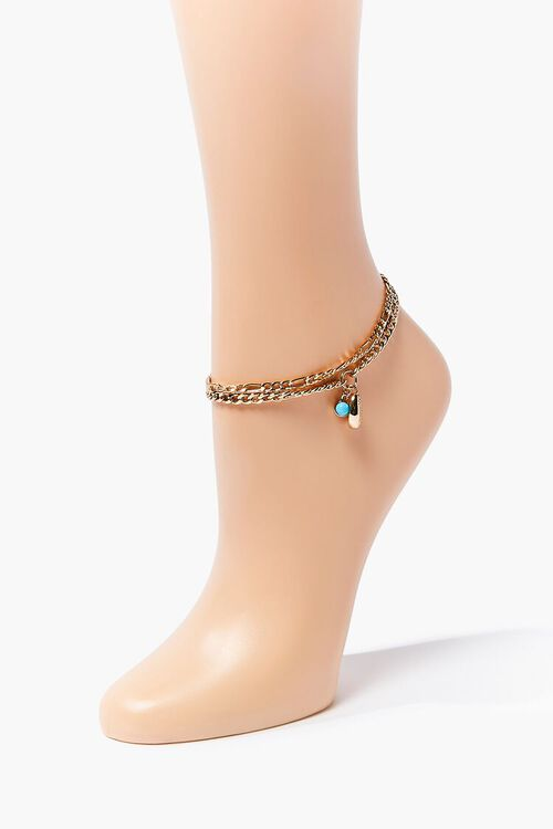 Faux Turquoise Charm Anklet, image 1