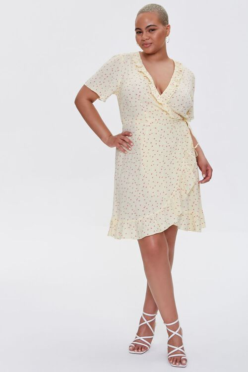 Plus Size Floral Print Wrap Dress, image 4