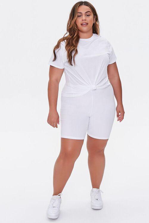 Plus Size Basic Organically Grown Cotton Biker Shorts, image 5
