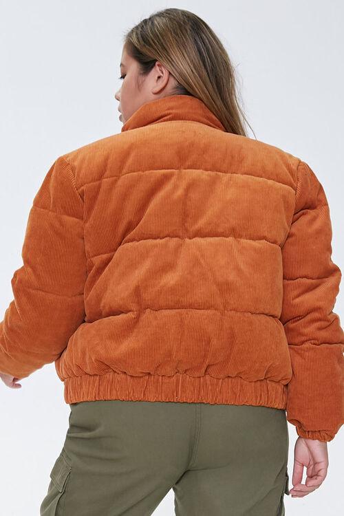 Plus Size Corduroy Puffer Jacket, image 3