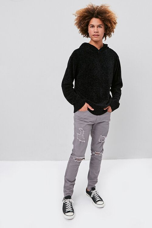 Chenille Sweater-Knit Hoodie, image 4