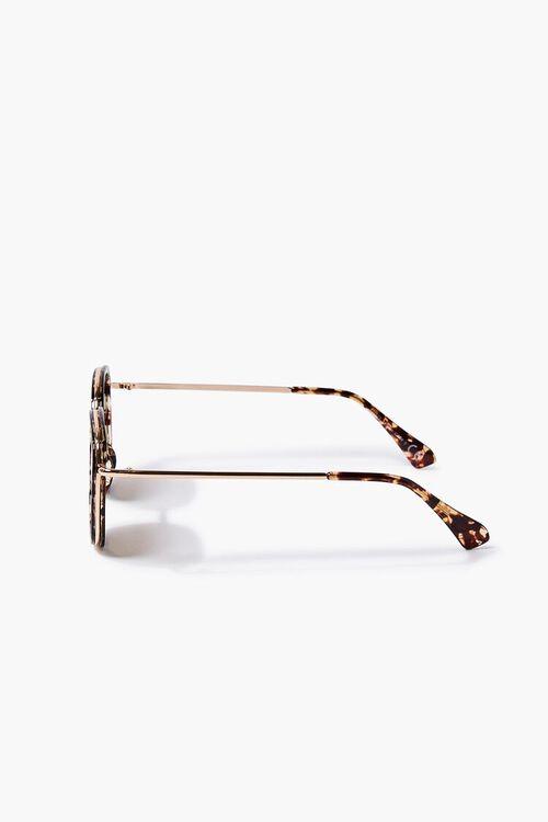 Tortoiseshell Round Metal Sunglasses, image 3