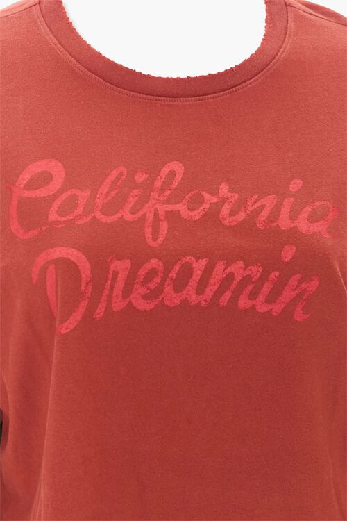 BURGUNDY/RED Plus Size California Dreamin Graphic Tee, image 4