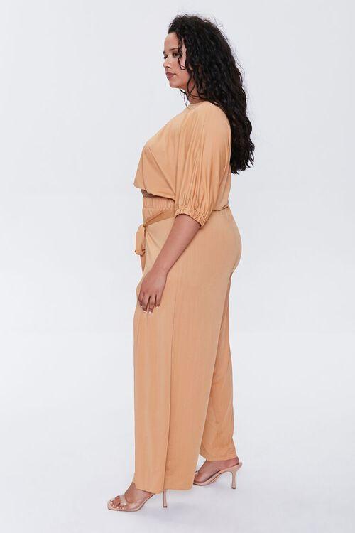 Plus Size Crop Top & Pants Set, image 2