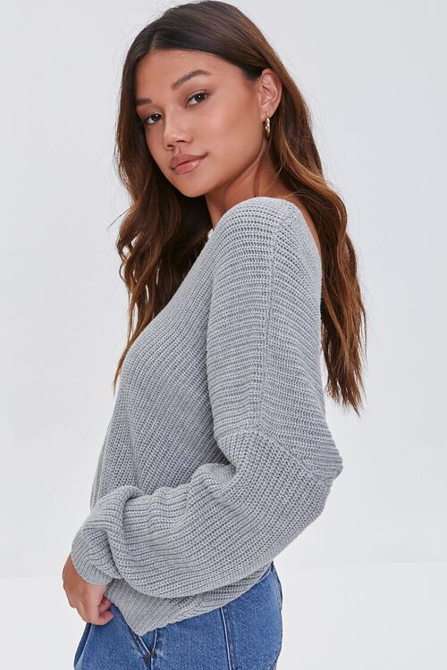 Ribbed Twist-Back Sweater, image 3