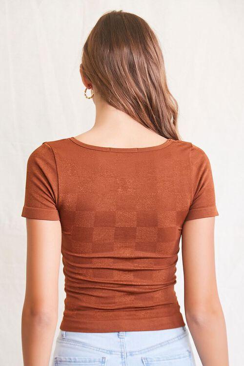 CHOCOLATE Seamless Checkered Top, image 3