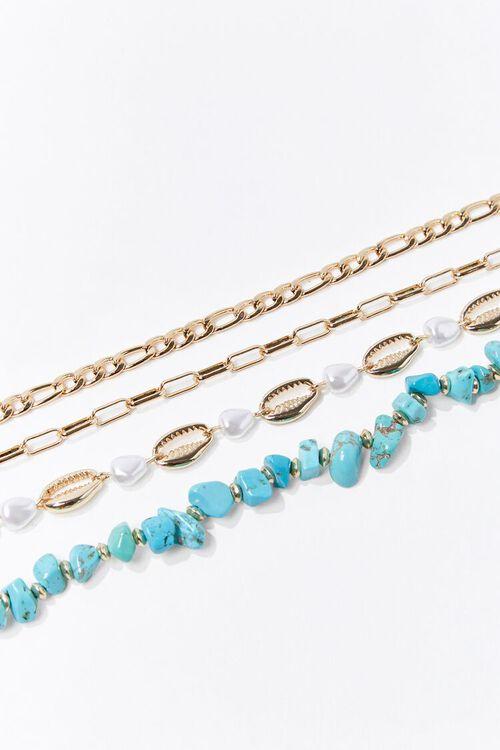 Faux Turquoise Bracelet Set, image 2