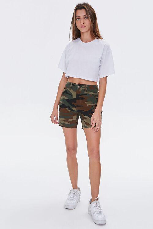 OLIVE/MULTI Camo Cargo Shorts, image 5