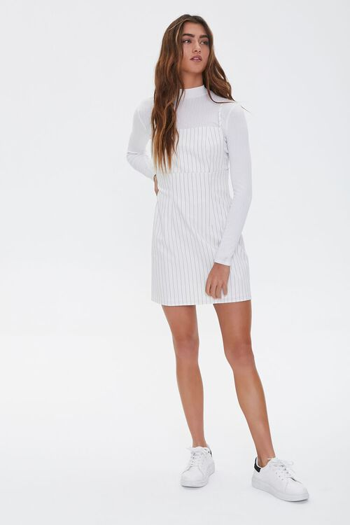 Striped Print Overall Dress, image 4