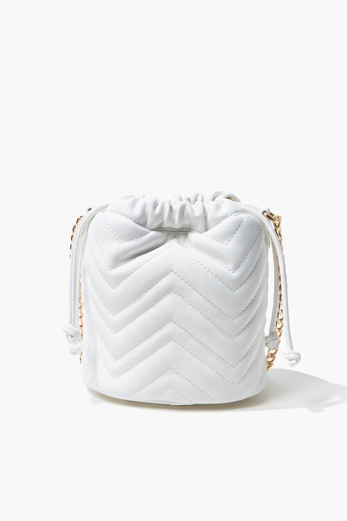 Quilted Crossbody Bucket Bag, image 1