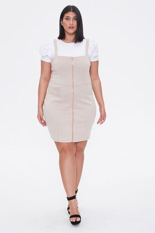 Plus Size Zippered Pinafore Dress, image 4