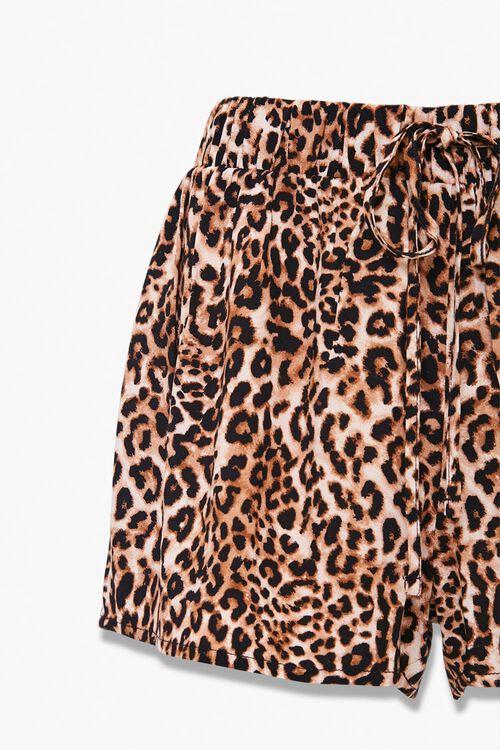 Leopard Print Pajama Shorts, image 3
