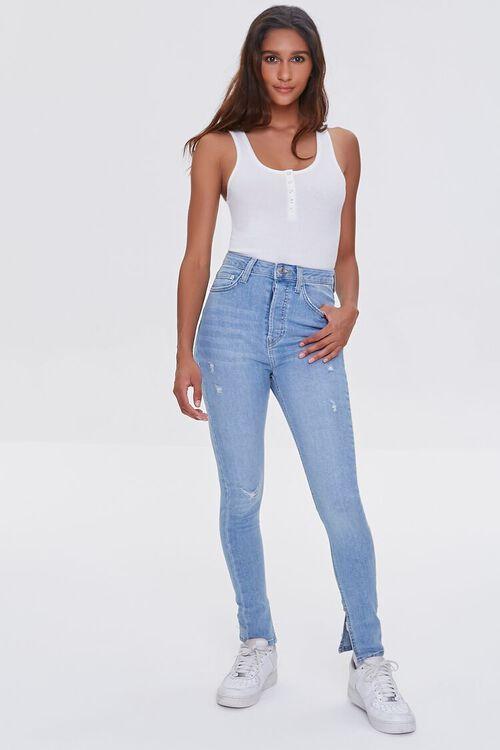 LIGHT DENIM Premium High-Rise Skinny Jeans, image 1