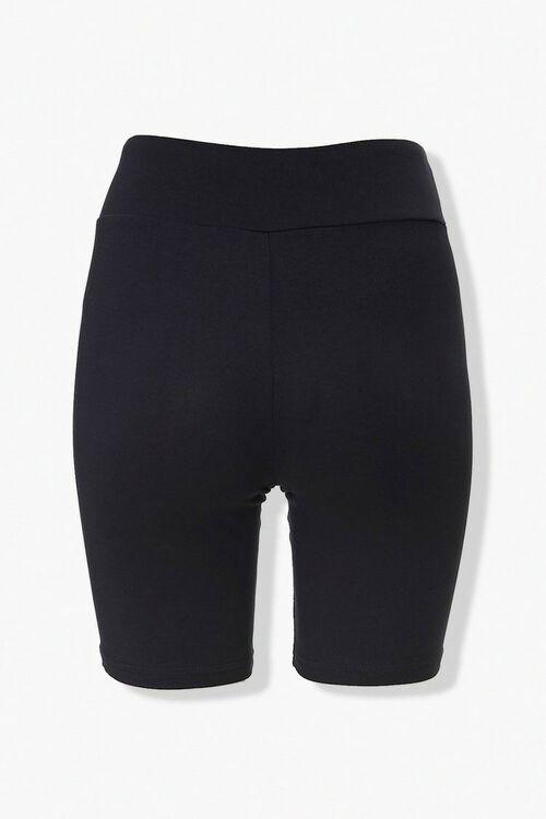 BLACK High-Rise Biker Shorts, image 3