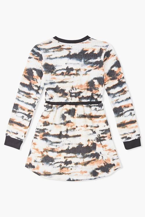 Girls Ribbed Tie-Dye Dress (Kids), image 2