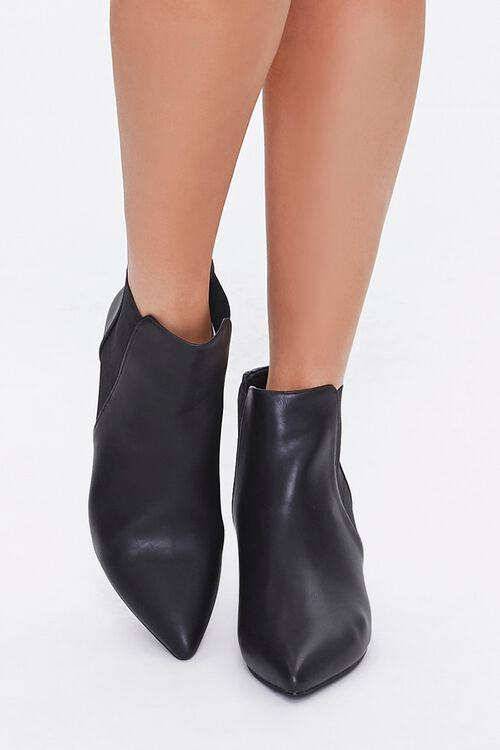 Faux Leather Stiletto Chelsea Boots, image 4