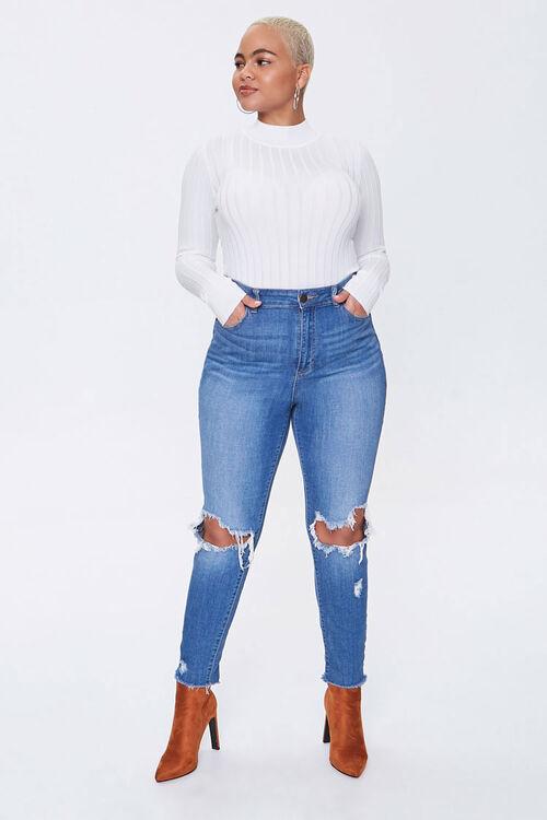 Plus Size Ribbed Mock Neck Sweater, image 4
