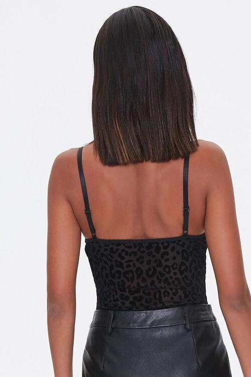 Mesh Leopard Print Bodysuit, image 3
