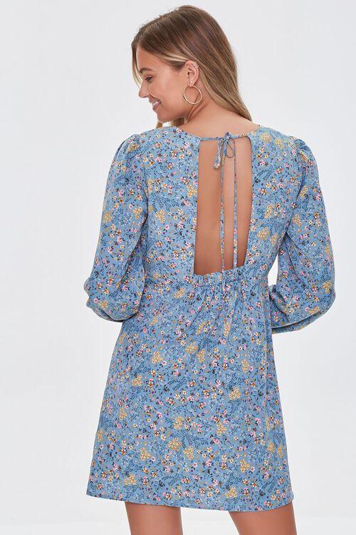 BLUE/MULTI Floral Print Mini Dress, image 3