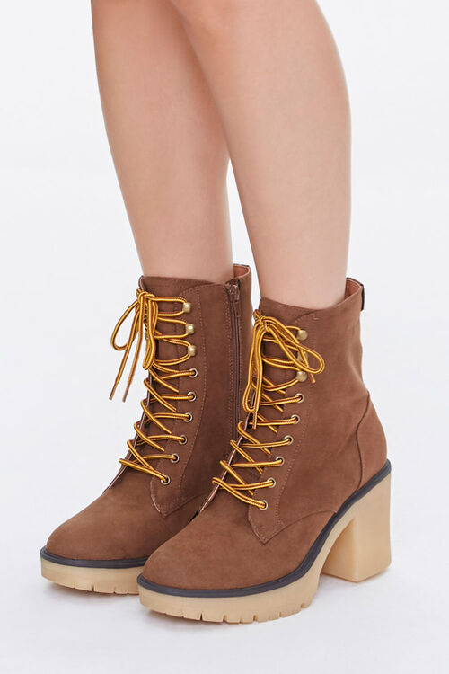 Lace-Up Block Heel Boots, image 1