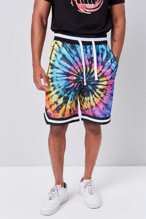 Tie-Dye Wash Drawstring Shorts, image 2