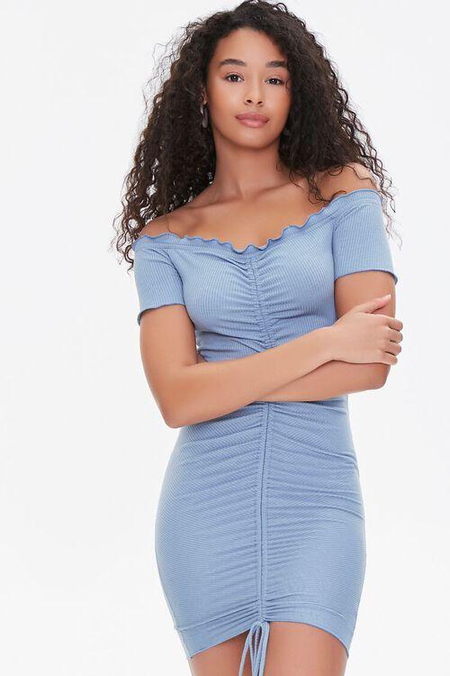 Off-the-Shoulder Ruched Dress, image 1